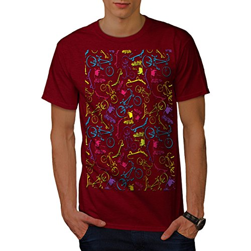 wellcoda Sport Bike Old Mens T-Shirt, Extreme Graphic Printed Tee Red 3XL