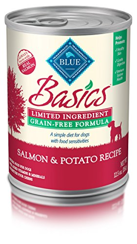 BLUE Basics Limited Ingredient Diet Adult Grain Free Salmon & Potato Wet Dog Food 12.5-oz (Pack of 12)