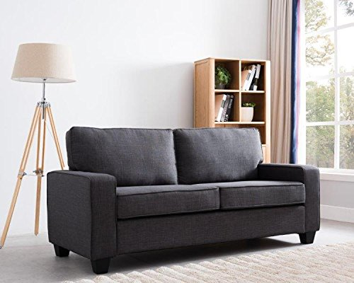 New Ridge Home Goods 2000-Gry Grey Monder Sofa Couch, Average Size