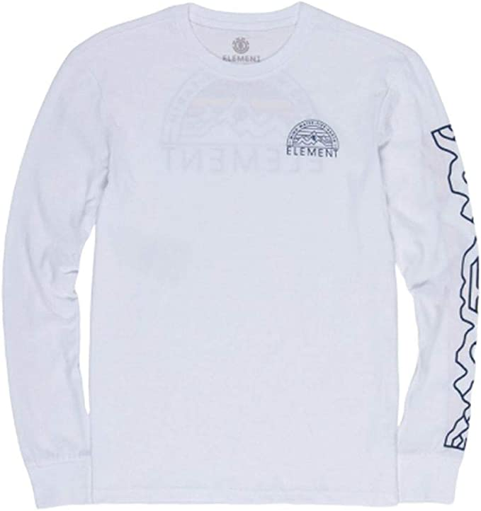 Element Odyssey playera de manga larga para hombre - Blanco - Small: Amazon.es: Ropa y accesorios