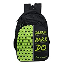 POLE STAR Polyester 40L Black and Green Backpack