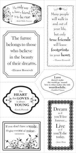 Fiskars 01-002268 Heidi Grace 4-by-8-Inch Clear Stamps, Quotes