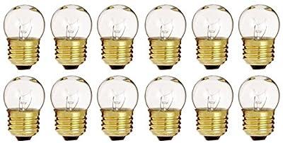 (Pack Of 12) 7.5-Watt S11 Sign Indicator 7.5S11 Medium (E26) Base Incandescent Light Bulb