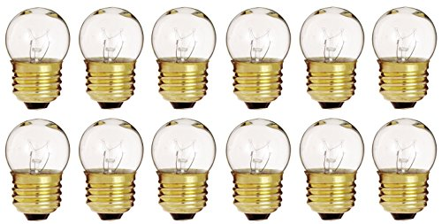 (Pack Of 12) 7.5-Watt S11 Sign Indicator 7.5S11 Medium (E26) Base Incandescent Light Bulb (Bulb Incandescent Indicator Clear Light)