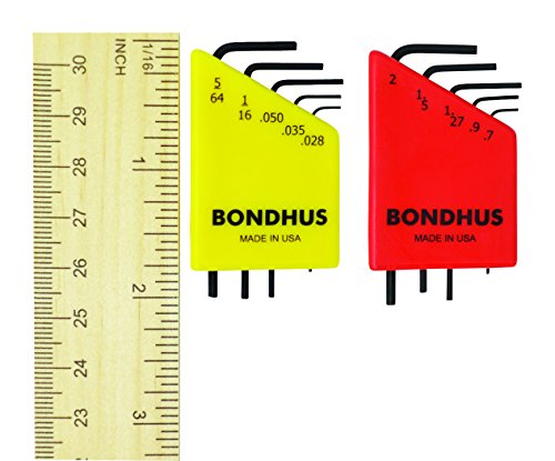 Bondhus 20393 L-Wrench Hex Key Double Set (L Wrench Hex)