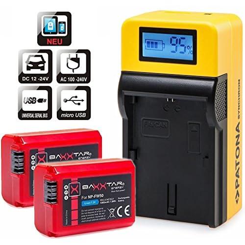 Ex-Pro Blanco Batería NP-FW50 para Sony Alpha A55 NEX-3 NEX-5 NEX-6 NEX-7