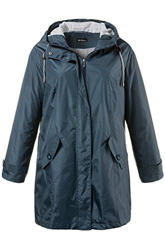 Ulla Popken Women's Plus Size Denim Look All Weather Parka Jacket Multi 24/26 711412 90
