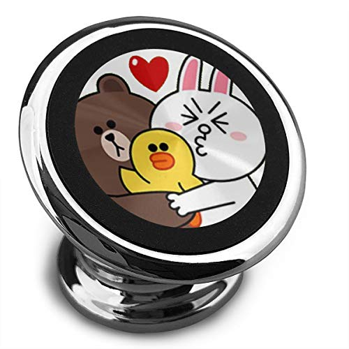Qinf Cony-Brown-Sally-Happy-Family Universal Gray Smartphone Car Mount Holder Cradle for iPhone Xs Max R X 8 Plus 7 Plus 6S Samsung Galaxy S9 S8 Edge S7 S6 LG Sony and More