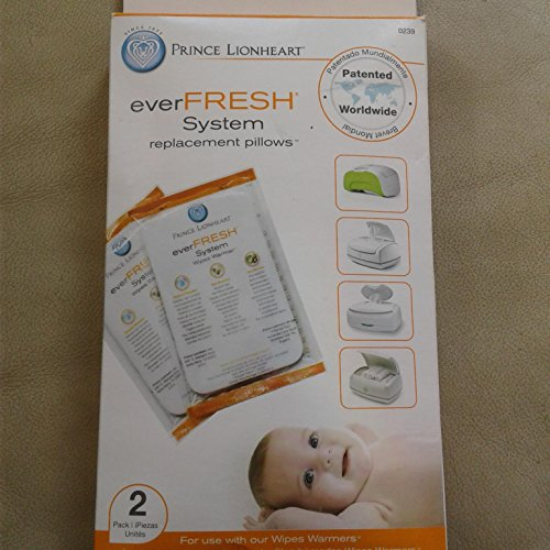 Prince Lionheart Ever-Fresh Replacement Pillows for Ultimate Wipes Warmer (Pack of 2)