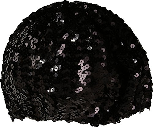 Steve Madden Women's Sequins Beret Black One Size