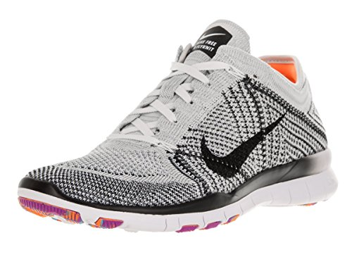 Nike Damen Wmn Vrije Tr Flyknit Turnschuhe Blanco (wit / Zwart-pr Pltnm-hypr Vlt)