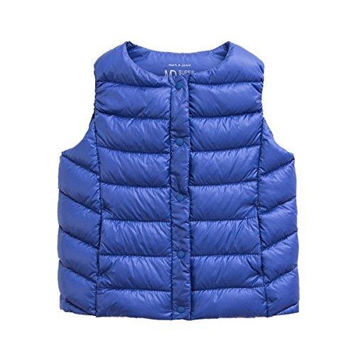 (marc janie Girls Boys' Lightweight Packable Down Puffer Vest 4 Years Navy Blue)