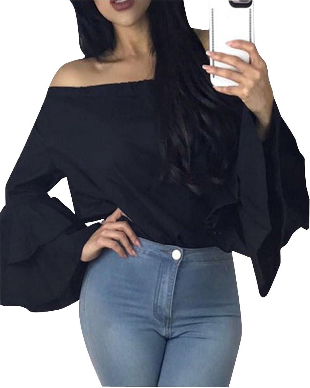 79b555ec85d3c2 zum Verkauf Oberteile Kurzarm Batwing T-Shirt Tops Damen Schulterfreies  Bluse Tunika Tanktop