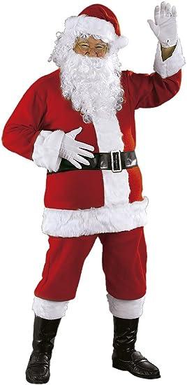 Rubies Disfraz Papa Noel Luxe AD: Amazon.es: Juguetes y juegos