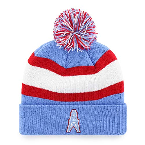 Cap Tennessee Knit Titans - OTS NFL Tennessee Titans Male Rush Down Legacy Cuff Knit Cap with Pom, Periwinkle, One Size