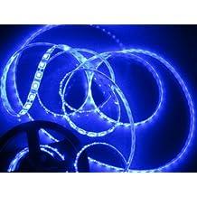 16.4ft 5m Waterproof Flexible 150leds Color Blue Smd5050 LED Light Strip Kit Without 12v Power Supply Ideal for Gardens, Homes, Kitchen, Under Cabinet, Aquariums, Cars, Bar, DIY Party Decoration Lighting - Mood Light