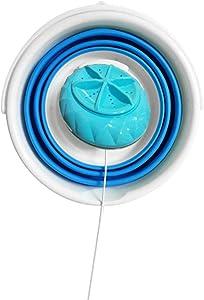 Singa-Z Mini Washing Machine, Lightweight Foldable Ultrasonic Turbine Washer USB Powered Travel Camping Laundry Washer