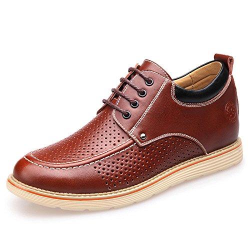 OEMPD Chaussures En Cuir Occasionnels Pour Hommes Chaussures Habillées Pour Hommes Chaussures à Lacets Respirantes Brownhollow fpAYt