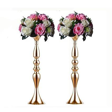 Amazon Sfeexun Pcs Of 2 Tall Metal Vase For Wedding