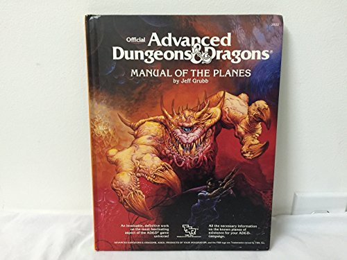 Advanced Dungeons & Dragons: Manual Of The - Plane Manual
