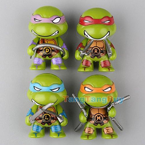 4pcs Teenage Mutant Ninja Turtles TMNT Cute Mini Action Figure Toys Collection