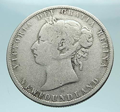 1876 CA 1876 H CANADA NEWFOUNDLAND UK Queen VICTORIA Genu coin Good Uncertified (Newfoundland Coin)