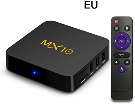 MX10 Mini Smart TV Box, Android 8.1 RK3328 Quad Core 64bit DDR3 4GB RAM 32GB ROM 4K HD WiFi 100M LAN USB3.0 Media TV Decodificador Multimedia Reproductor Multimedia: Amazon.es: Electrónica