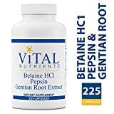 Vital Nutrients – Betaine HCL Pepsin & Gentian Root Extract – Powerful Digestive Support for the Stomach – Gluten Free – 225 Capsules Review