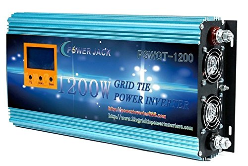 1200W grid tie power inverter DC 26.4V-45V to AC 110V , with LCD display/meter , used for Solar Panel MPPT by PowerJack