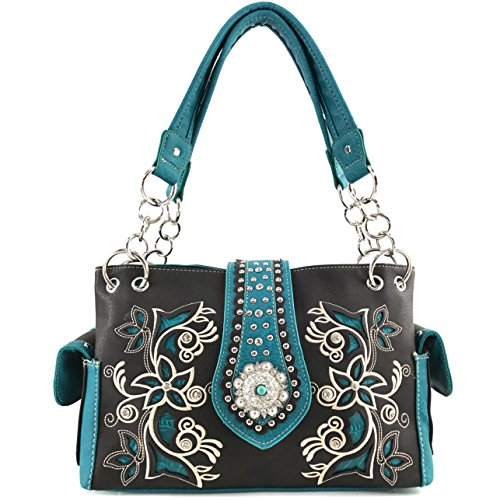 Leather Turquoise Rhinestone - 3