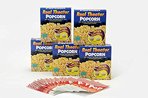 Wabash Valley Farms Real Theater Popcorn Popping Kit - Each Popping Corn Set Includes Gourmet Movie Theater Popcorn, Buttery Salt, and Popping Oil - Perfect for Movie Nights and More - 25 Pack by Wabash Valley Farms (Image #7)