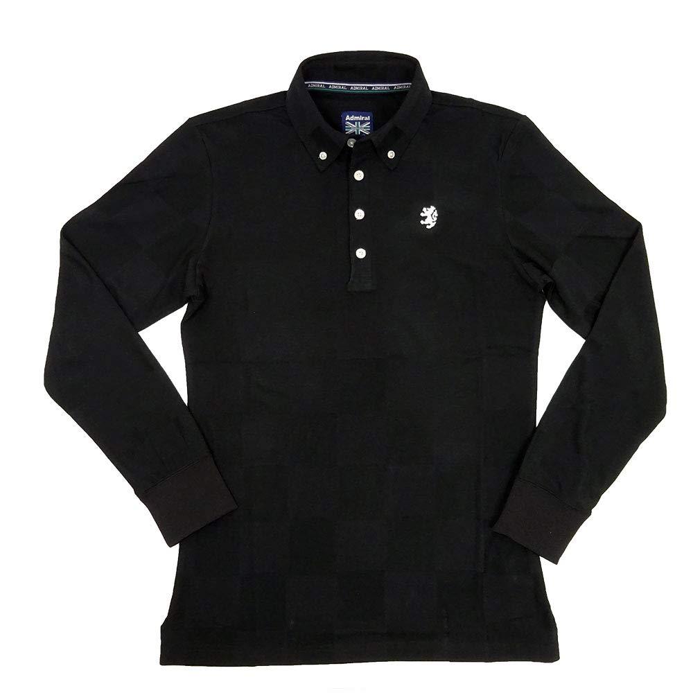 ADMIRAL GOLF(アドミラルゴルフ) 長袖ポロシャツ [メンズ] ADMA890 チェックリンクス L/S BD シャツ【BLK(10)/MLLLXLサイズ】 XL BLK B07J2FW3NK