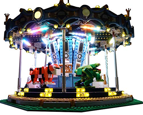 Brick Loot Carousel Lighting Kit for Set 10257 (Light Carousel)