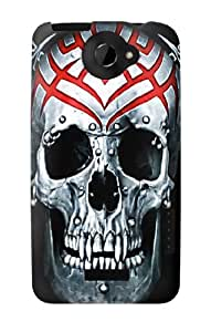 S0223 Vampire Skull Tattoo Case Cover for HTC ONE X