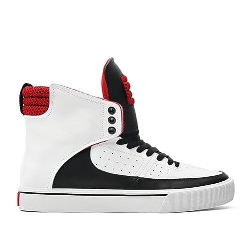 Supra - Zapatillas Altas de Cuero Hombre 8.5 B(M) US: Amazon.es: Zapatos y complementos