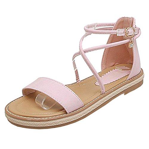 Pink Plano Coolcept Mujer Cruzado Sandalias wIxUfvnRqt