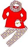 Boutique Clothing Girls Christmas Santa Pom Pom Santa Scarf Set Set 12-18/XXS