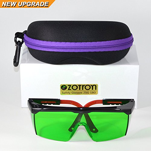(Zotron LED Grow Light Color Correction Safety Glasses with Free Bonus Case for Indoor Gardens, Greenhouses, Hydroponics, Protective Eyewear Against UV, IR Rays, Best for LED Grow Rooms)
