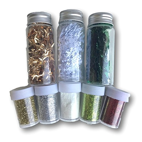 litter - Table Scatters - Shiny Xmas Confetti - Party Decorations -Party Embellishments (Christmas Glitter Art)