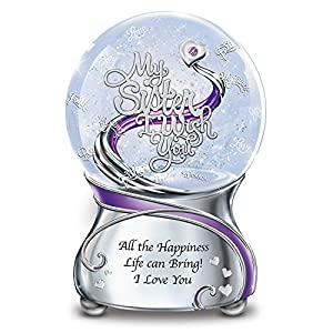 Musical Glitter Globe For Sister With Sentiment And Poem Card by The Bradford Exchange by The Bradford Exchange