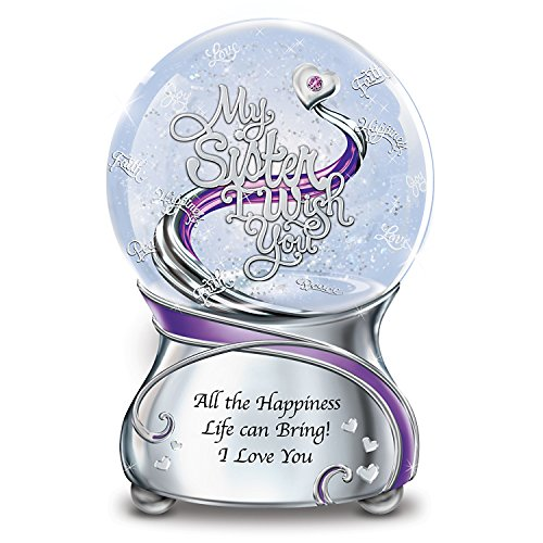 Musical Glitter Globe For Sister With Sentiment And Poem Card by The Bradford Exchange