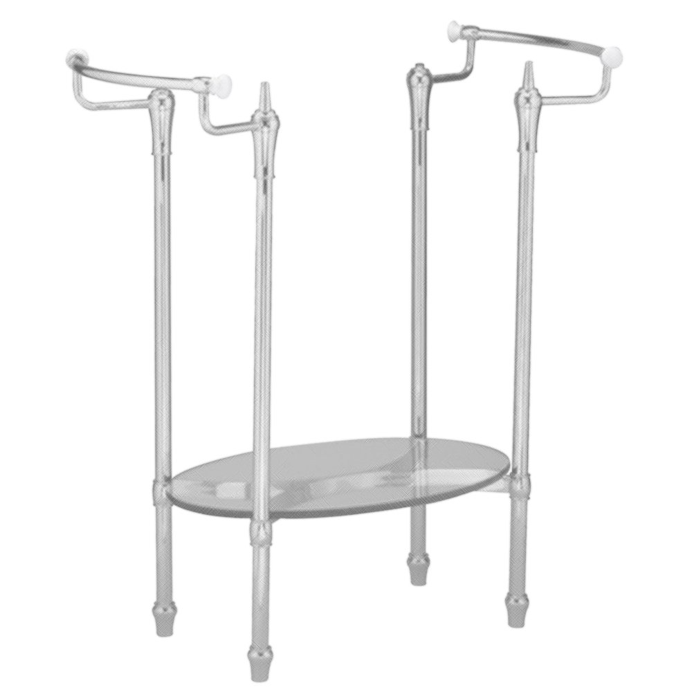 American Standard 8710.000.295 Standard Collection Console Table Metal Leg Set, Satin Nickel by American Standard