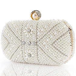 Fully Beaded Artificial Pearls Luxury Handbag