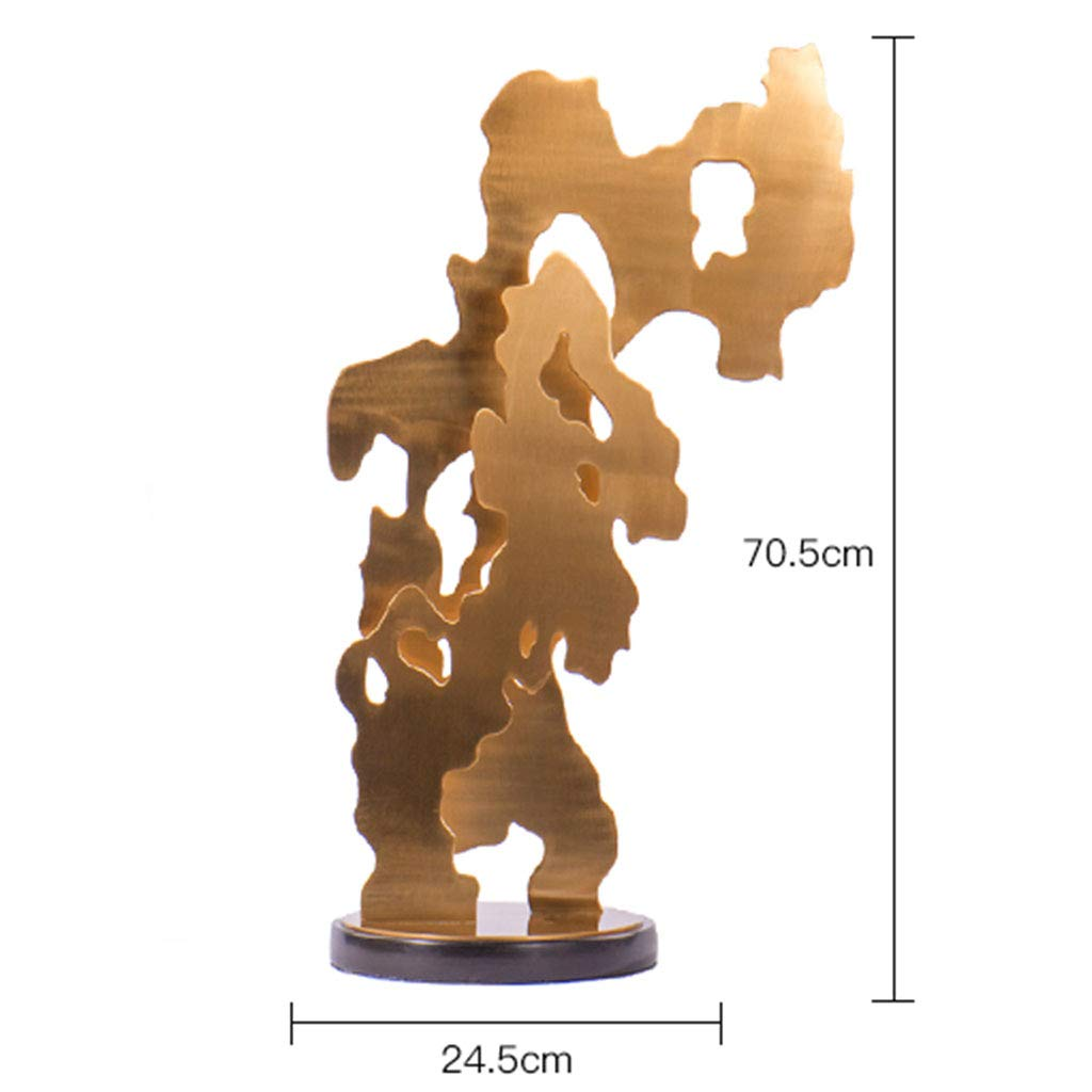 Metal Ornaments for The Home-Abstract Sculpture Wrought Iron Ornaments Hotel Club Designer 47.524.5 (Size : B)