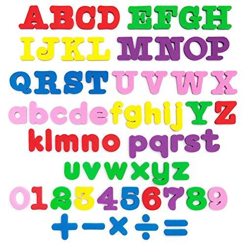 Friends Magnetic Alphabet Letter - MAGNETIC letters - Magnetic numbers - Alphabet magnets - Alphabet letters - ABC magnets - Letter magnets - SET of 67- Foam letters number magnets for kids - Magnetic fridge - Magnetic 123 ALPHABET