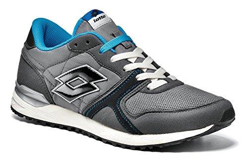 Lotto - Zapatillas de Material Sintético para hombre Negro Asphalt - Grigio - Azzurro 41