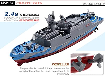 Bibite Remote Control Challenger Aircraft Carrier 2.4GHz RC Boat Warship Battleship