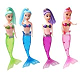 LYhopes Princess Mermaid Doll With LED Light Classic About 7.6 Inch High Dolls Toy For Girl Birthday Xmas Gifts-Pack of 4
