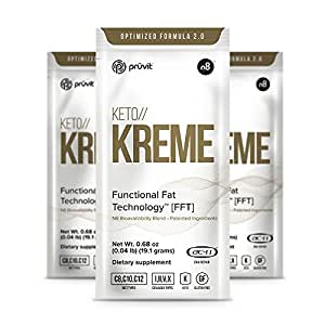 KETO//KREME 2.0 with Functional Fat Technology FFT, MCT Oils for Brain Boost, Reduce Joint Pain and Inflammation, Improve Digestive and Gut Health, Kickstart Natural Collagen Production, 3 Sachets