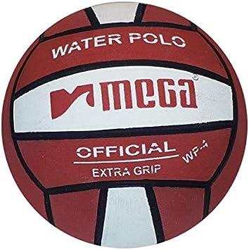 Balón Polo de Agua. Mega. Diseño de Color Rojo y Blanco. Tamaño 4 ...